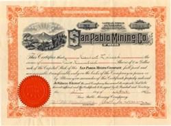 San Pablo Mining Co. of Mexico - Arizona 1906