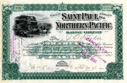 Saint Paul and Northern Pacific Railway Company - Minnesota 1894