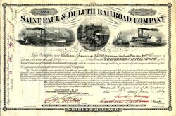 Saint Paul & Duluth Railroad Company - Minnesota 1889