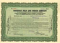 Saguenay Pulp and Power Company - Canada 1923