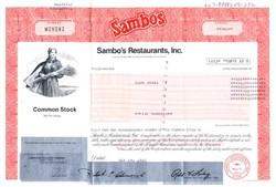 Sambo's Restaurant, Inc. - California 1982