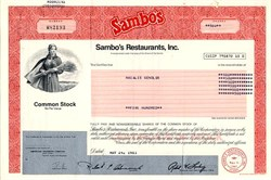 Sambo's Restaurants, Inc. - California 1983