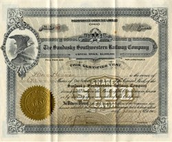 Sandusky Southwestern Railway Company - Ohio 1906