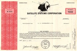 Satellite Systems Corporation ( Early Satellite Vignette) - Texas 1971