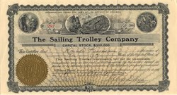 Sailing Trolley Company - District of Columbia 1905