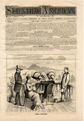 Scientific American featuring Edison's Megaphone  - New York 1878