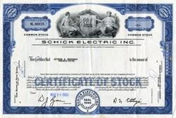 Schick Electric Inc. ( Famous Electric Razor ) - 1969