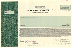Scantronic Holdings PLC - England - 1990