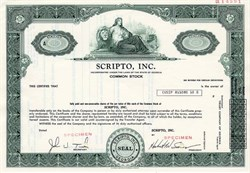 Scripto, Inc. - ( Scripto Inc., was one the largest makers of writing instruments ) Georgia