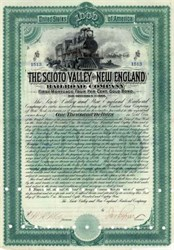 Scioto Valley and New England Railroad Company - 1889