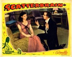 Scatterbrain Lobby Card starring Judy Canova, Alan Mowbray, Ruth Donnelly, Eddie Foy, Jr - 1940