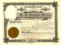 R. A. Rowan & Co. - Famous L.A. Real Estate Developer - Los Angeles, California 1905