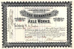 Scranton Axle Works 1893 - Pennsylvania