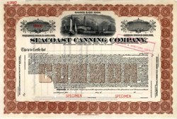 Seacoast Canning Company 1914 - Maine