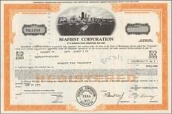 Seafirst Corporation (Seafirst Bank) 1976 - Seattle Harbor Vignette