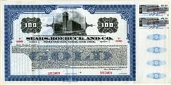 Sears, Roebuck and Co. - Specimen Gold Bond - 1920