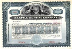 Seattle Lighting Company - 1920 ( Early Puget Sound Energy Company )