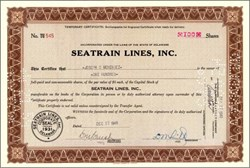 Seatrain Lines, Inc. - Early Certificates 1948