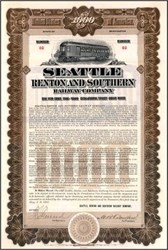 Seattle Renton and Southern Railway Company 1911 - Washington