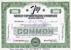 Seven Up Bottling Company - Mock Up Specimen Proof 1961