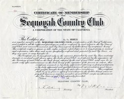 Sequoyah Country Club - California 1917