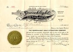 Searchlight Gold Extraction Co. -  Colorado Springs, Colorado and Arizona 1907