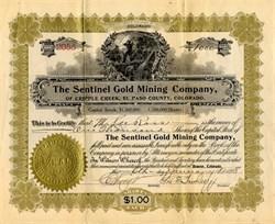 Sentinel Gold Mining Company - Cripple Creek, El Paso County. Colorado 1898