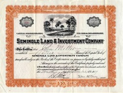Seminole Land & Investment Company - St. Cloud, Florida 1909