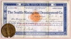 Seattle Mining and Development Co. (Cascade Mountains)  - Seattle, Washington 1891
