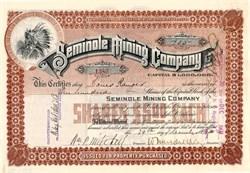 Seminole Mining Company - New Jersey 1902