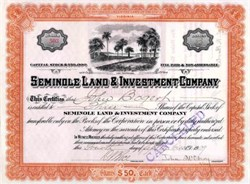 Seminole Land & Investment Company 1909 - St. Cloud , Florida
