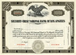 Security - First National Bank of Los Angeles - (Early Security Pacific National Bank  now Bank of America)