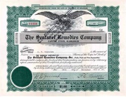 Sentanel Remedies Company 1916