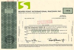 Sears Point International Raceway, Inc. - California