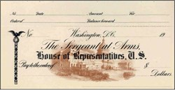 Sergeant at Arms House of Representatives, U.S. Blank Check