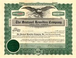 Sentanel Remedies Company - Delaware 1916