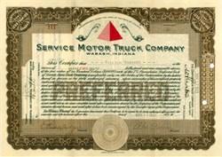 Service Motor Truck Company 1922 - Wabash, Indiana