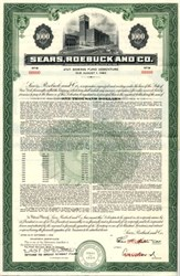 Sears, Roebuck and Co.- New York - SPECIMEN BOND