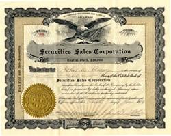 Securities Sales Corporation - Delaware 1929