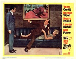 Sex and the Single Girl Lobby Card Starring Tony Curtis and Natalie Wood - 1964