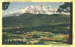 Shasta City, California Postcard