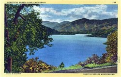 Shasta Lake, California Postcard
