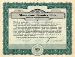 Shreveport Country Club - Louisiana 1952