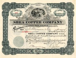 Shea Copper Company - Yavapai. Jerome. Arizona 1920