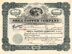 Shea Copper Company - Yavapai. Jerome. Arizona 1920