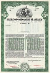 Sheraton Corporation of America - New Jersey 1956