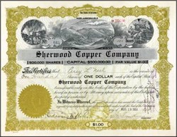 Sherwood Copper Company 1919 - Arizona