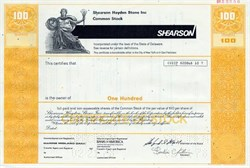 Shearson Hayden Stone Inc. (Sandy  Weill as Chairman)  - Delaware