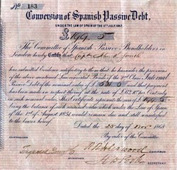 Conversion of Spanish Debt - London 1868