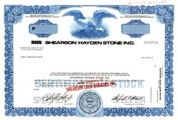 Shearson Hayden Stone Inc. - Became Shearson/American Express  (Sandy  Weill as Chairman)  - Delaware 1975